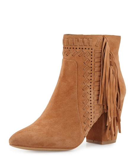 Rebecca Minkoff Leather Suede-Trimmed Booties geniue stockist limited edition 2014 new online buy cheap extremely cheap outlet WkIZDT4ma