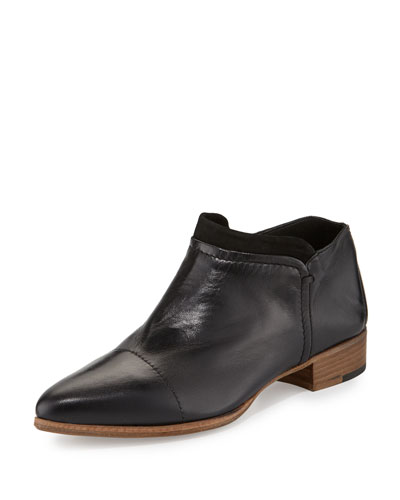 Serafina Leather Ankle Boot, Nero