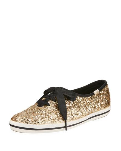 Keds® glitter sneaker, gold