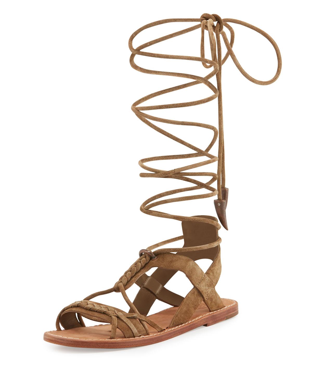 83284cc5b05 Ash Peace Suede Gladiator Sandals