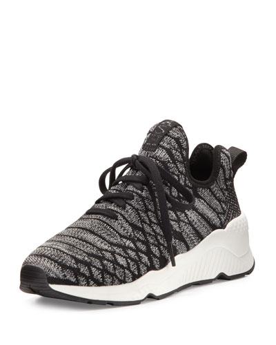 Magma Python-Print Fabric Sneaker, Black/Gray