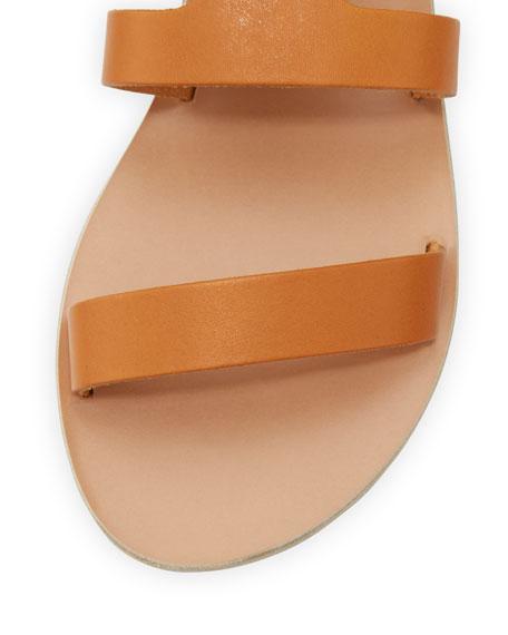 Agapi Flat Leather Gladiator Sandals
