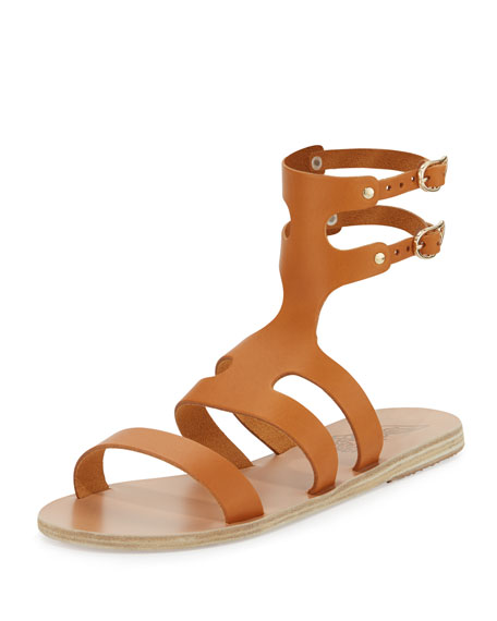 Ancient Greek Sandals Agapi Flat Leather Gladiator Sandal,