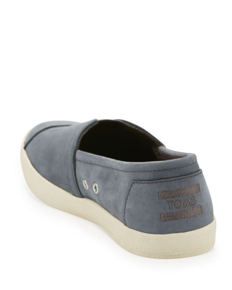 Avalon Nubuck Slip-On Sneaker, Dark Gray