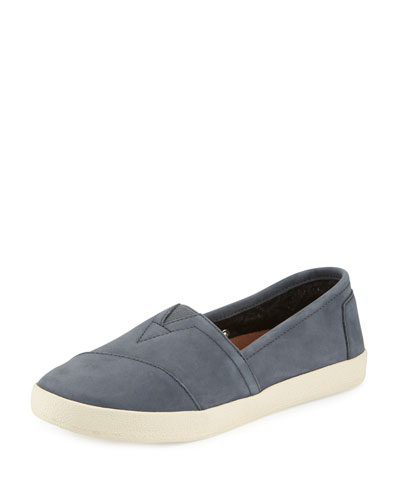 Avalon Nubuck Slip-On Sneaker, Dark Gray