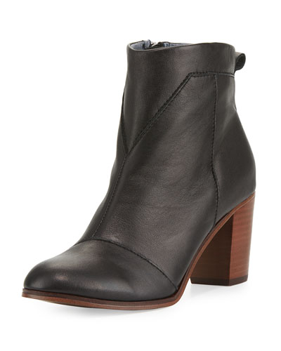Lunata Leather Ankle Boot, Black
