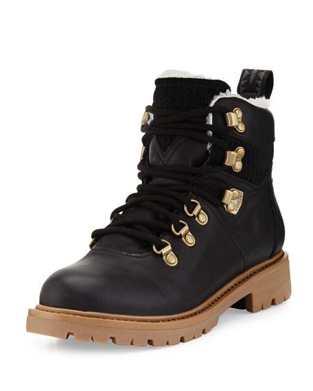 Summit Waterproof Leather Hiker Boot, Black