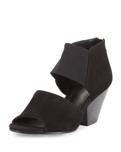 Chat Open-Toe d'Orsay Bootie, Black