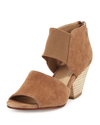 Chat Open-Toe d'Orsay Bootie, Sienna