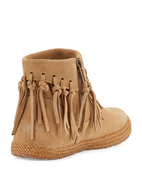 Shenendoah Fringe Ankle Boot, Dark Chestnut