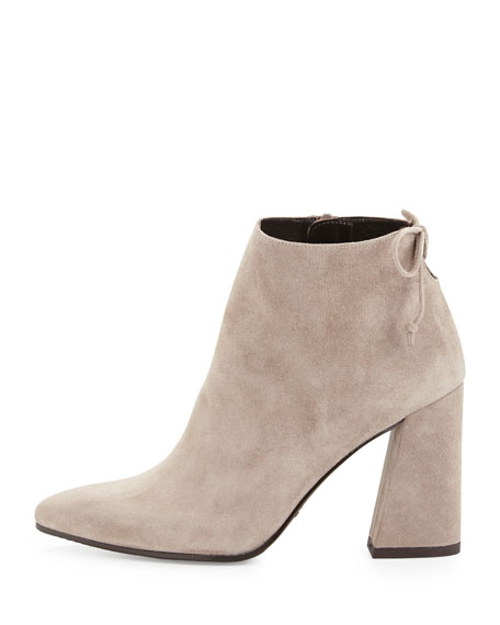 Grandiose Suede Pointed-Toe Bootie, Topo