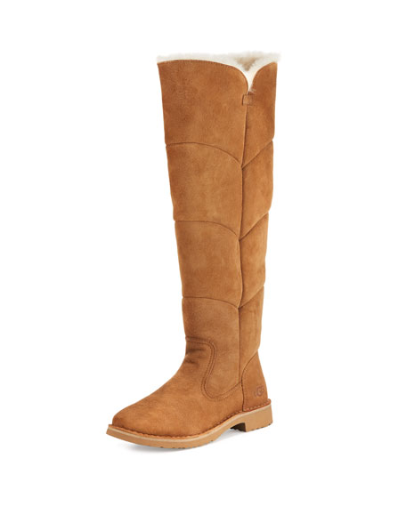 UGG Sibley Shearling Over-the-Knee Boot, Chestnut
