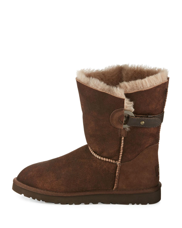 ad78c024b56 Nash Aviator Shearling Fur Boot, Chocolate