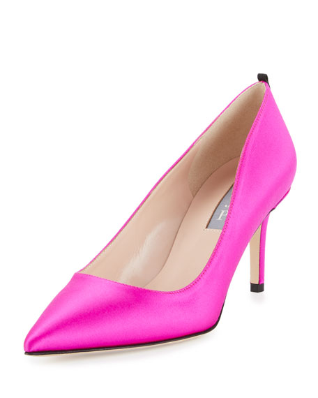 SJP by Sarah Jessica Parker Fawn Satin Pointed-Toe