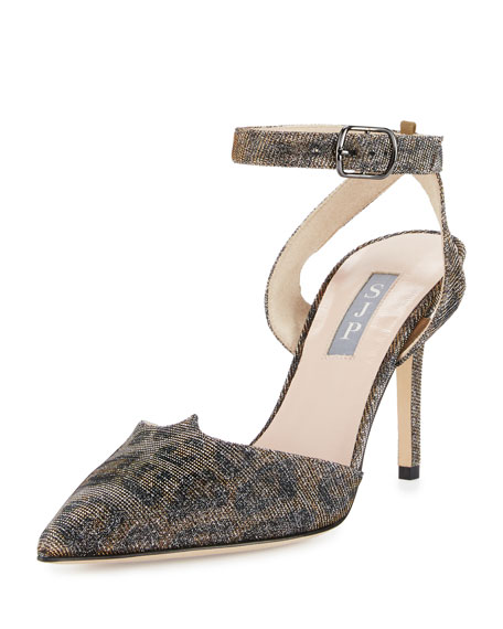 SJP by Sarah Jessica Parker Supreme Shimmery Ankle-Wrap