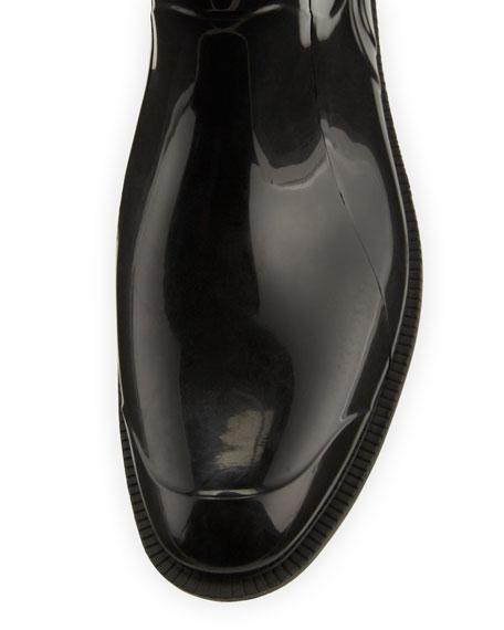 Crosshill Heart-Check Rain Boot, Black