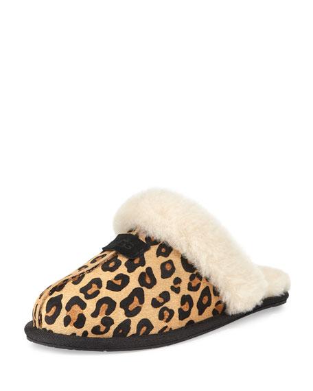 Ugg Australia Scuffette Ii Calf Hair Slipper Chestnut Leopard