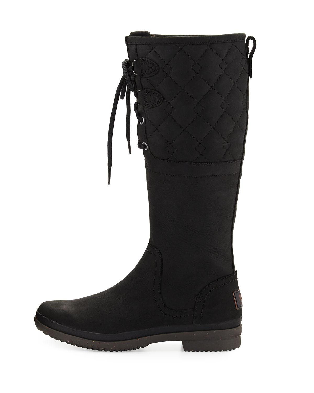 77fe28f8895 Elsa Deco Quilted Waterproof Boot, Black