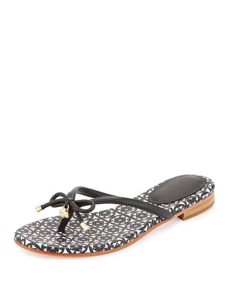 kate spade new york mistic bow flat thong