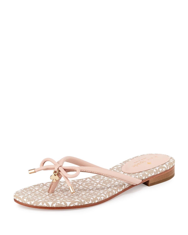 01fec60adade kate spade new york mistic bow flat thong sandal