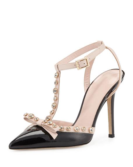 170e1dd2d0e lydia studded patent pump black/petal pink