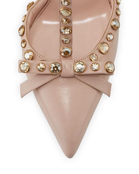 lydia studded leather pump, petal pink