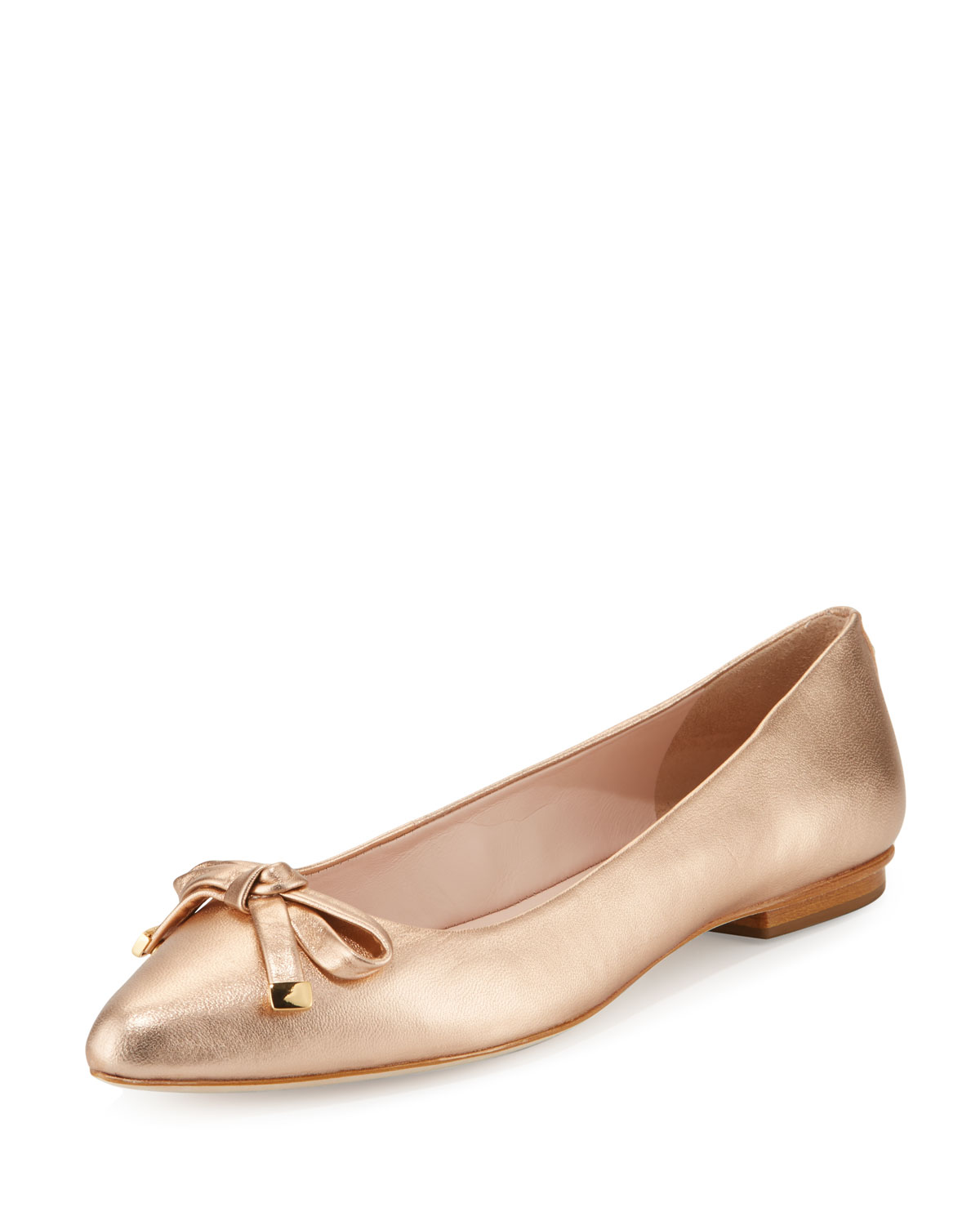 c111fb22613 kate spade new york emma leather bow Ballet Flat