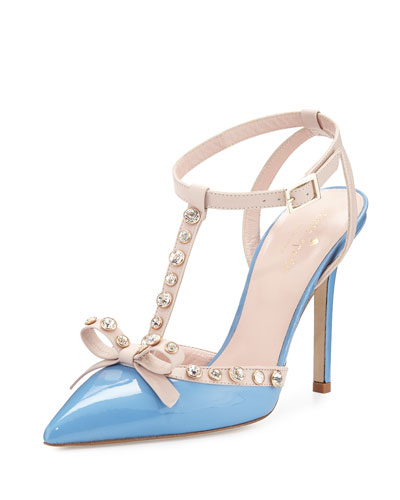 lydia studded patent pump, alice blue