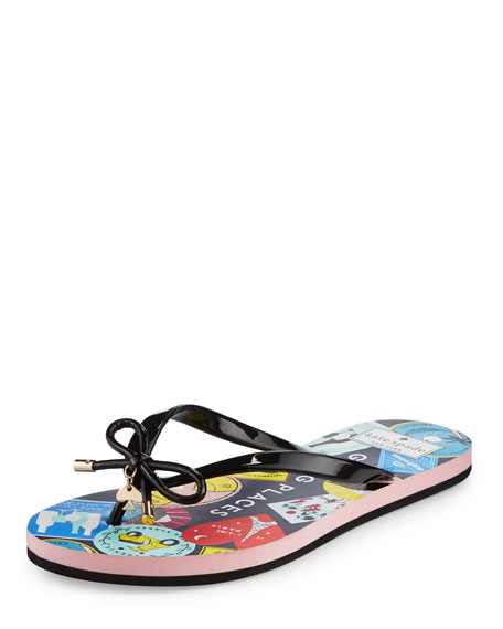 b077d3c4b138 kate spade new york nova passport flat bow thong sandal