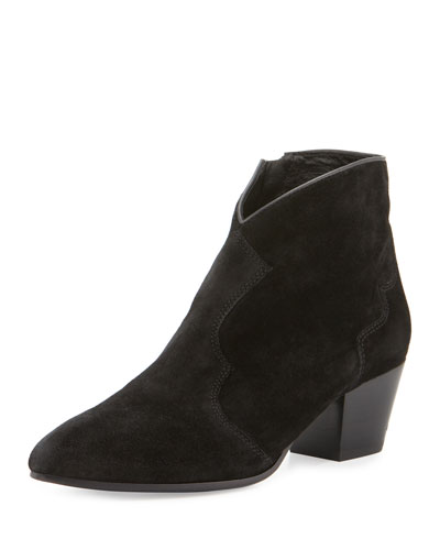 Hurricane Pointed-Toe Bootie, Black
