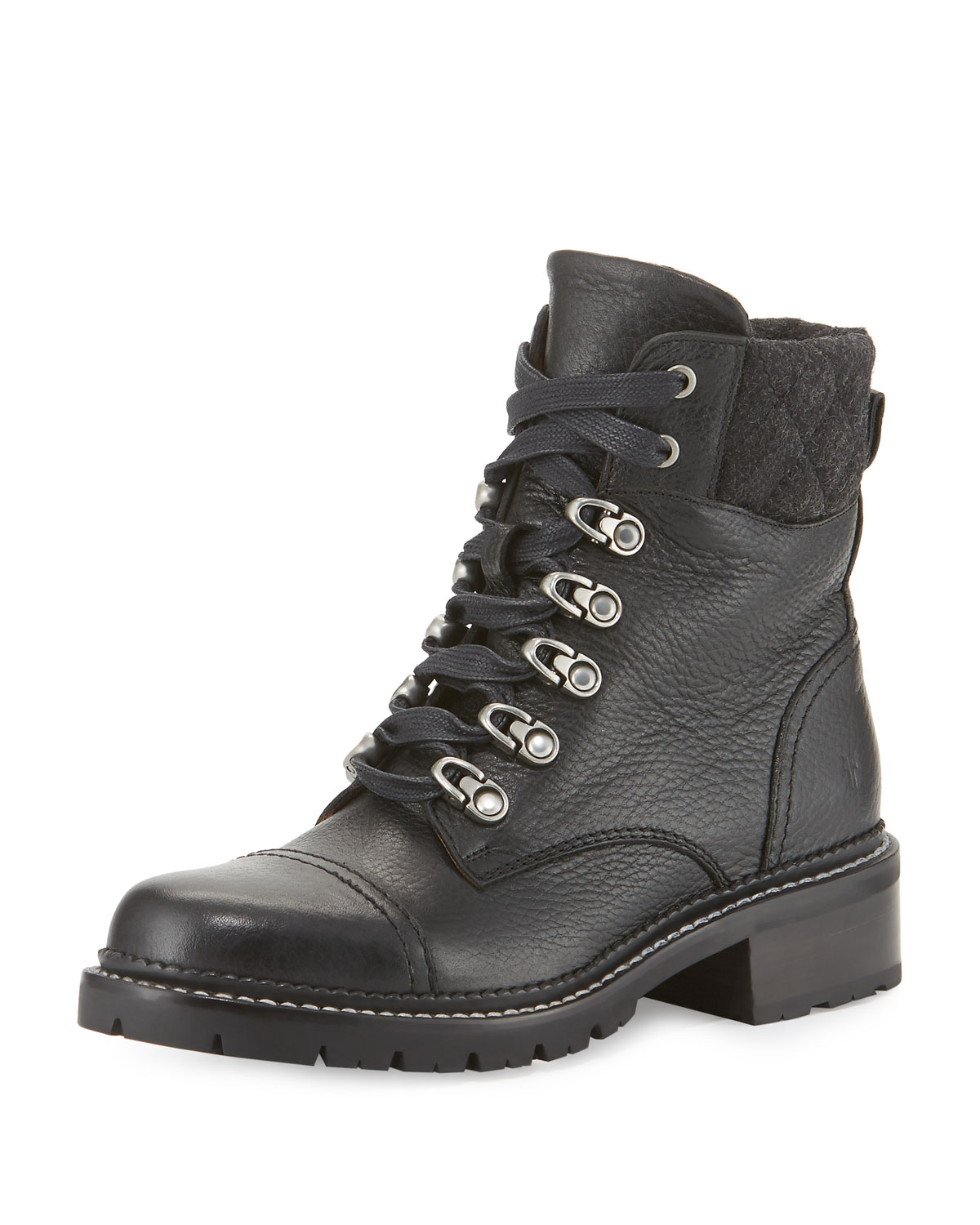 f11bbbfd5b8 Samantha Leather Hiker Boots, Black