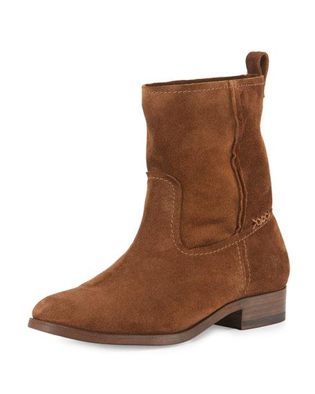 Frye Cara Short Suede Boot, Wood