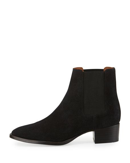 Dara Suede Chelsea Boot, Black