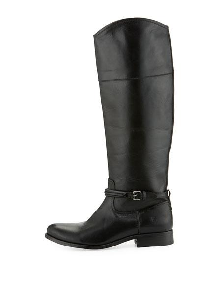 Melissa Seam Leather Knee Boot, Black