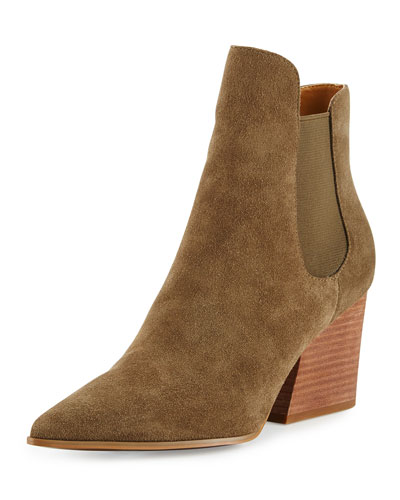 Finley Pointed-Toe Chelsea Boot, Fatigue Green