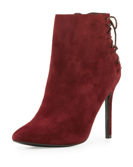 Charles David Catherine Suede 95mm Bootie, Cabernet