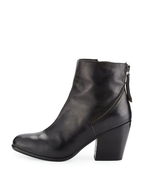 Viva Leather Bootie, Nero
