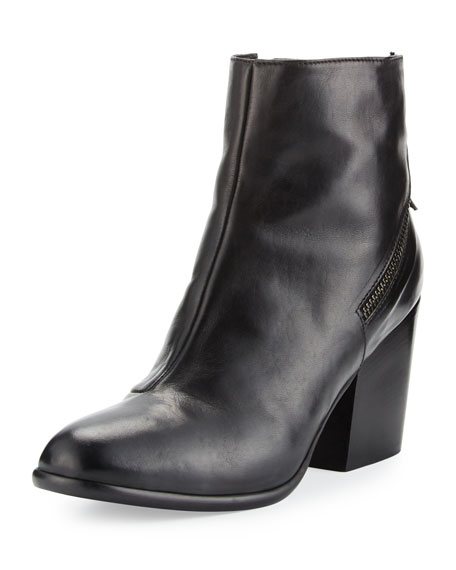Alberto Fermani Viva Leather Bootie, Nero
