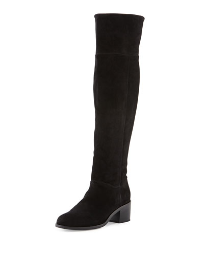 Ashby Suede Over-the-Knee Boot, Black