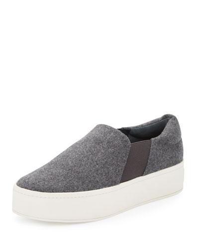 Warren Flannel Platform Skate Sneaker, Gray