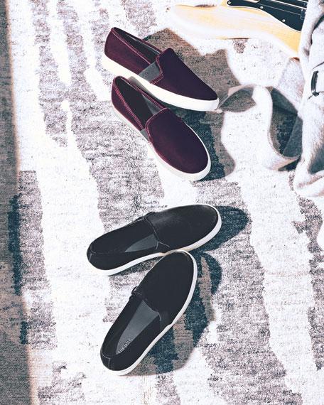 Vince Blair-12 Velvet Skate Sneaker, Oxblood