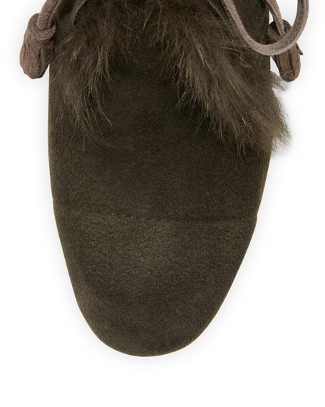 Xadani Shearling Chunky-Heel Bootie, Silt Brown