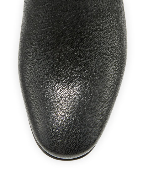 Xolani Leather Ankle Boot, Black Kripton