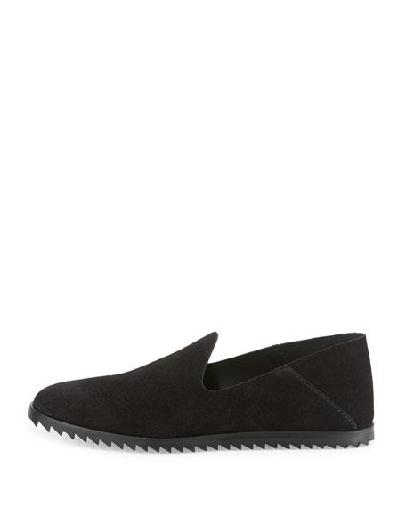 Yoshi Suede Slip-On Loafer, Black