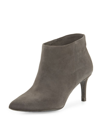Harley Pointed-Toe Bootie, Tarmac Gray