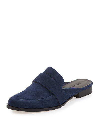 Mika Leather Slide Loafer, Midnight