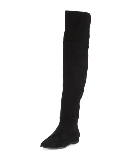 Joie Harmonee Suede Over-the-Knee Boot Black