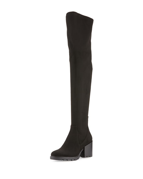 Kendall + Kylie Sawyer Suede Over-The-Knee Boot, Black