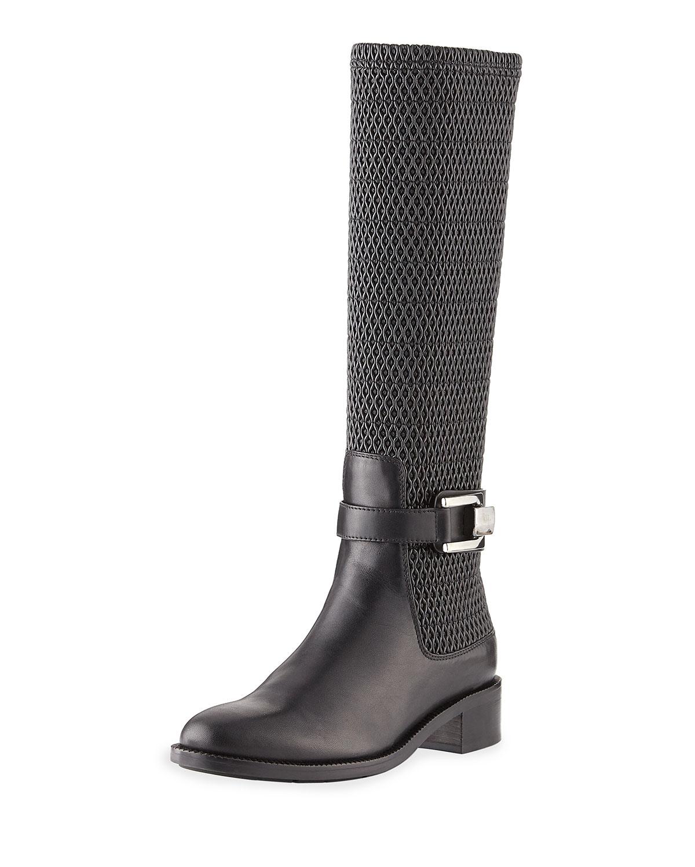 Aquatalia Odilia Stretch-Leather Riding Boots HrBI4pFec