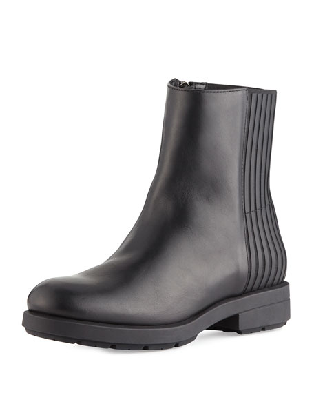 Aquatalia Lorraine Weatherproof Leather Bootie, Black